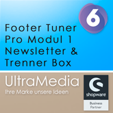 Footer Tuner Pro Modul 1 | Newsletter & Trenner Box